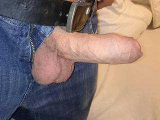 Great looking fat uncut cock.  It would be fun to play with.