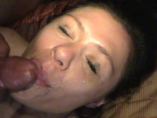 Brook loves cum on her face and in her mouth. She loves to swallow too.