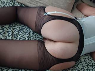 Wife showing butt