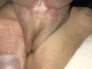 Close up of my split cock head.