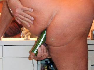 I like to fill up my anal with fingers and different things, so as a cucumber.