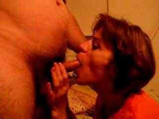 It's great to be able to see your friends cock throb and twitch as it spurts cum into your wifes open mouth, and seeing her kiss his naked hairy thigh because she's thankful for his hot cum.