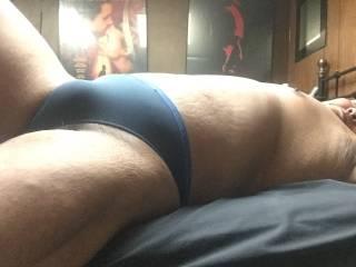 Indigo thong bulge