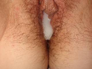 Enjoying my hubby \'s cum in my pussy