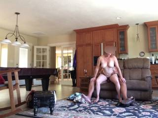 Another day fucking her on her hubby couch