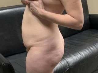 Kiki fully naked in my office having a beer on her lunch break about to suck my cock before getting fucked. I love when she texts me later and tells me about how her panties are soaked and full of cum.