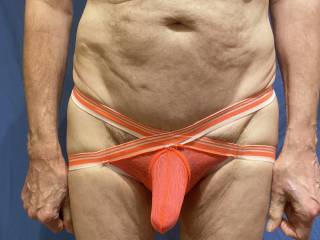 These undies do hold my cock in place but really not very discreetly