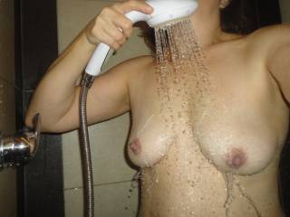 Beautiful shot - fantastic nipples - and do you love cum on your tits as much as I do?
