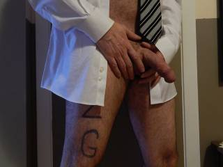 Love the pics with the shirt and tie, makes me think of naughty office fun.