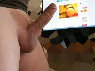 Why thank you Sir, that is a gorgeous hard cock and I would love it in any of my holes. Jili xx