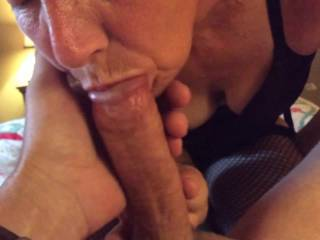 If you get tired of her sucking your cock I volunteer to take your place