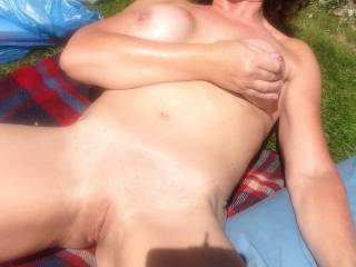 Spread your legs wide for me... I would cover you with oil & fuck you like a rag doll under the hot sun.... fuck you hard and rough until my spunk flooded your little pussy & spilled onto the blanket!