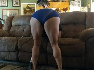 Wife cleaning and teasing!