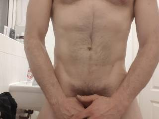 Quick snap before jumping in the shower.