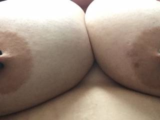 Gorgeous tits I have a long and thick cock to be fucking them again and again kik me charmedroot