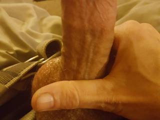 Preparing to stroke for a fan for an nice cum tribute