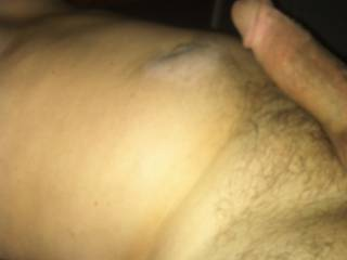 "My fat 7"" cock ....almost hard... ho wants  to get it real hard?"