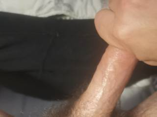 Wrapping my big hands around my hard cock during a good wank.. Only thing better would have been your hand.. Or mouth. Or pussy or ass..