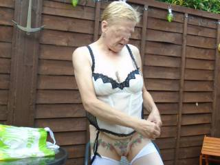 Oh I can not wait for the warmer weather to arrive so I can get naked out side again dirty comments welcome mature couple