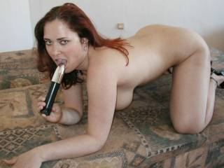 love to push that up your pussy as i fuck your ass from behind then switch holes and fuck your cunt   and pump you full of my hot cum you hot big titty naughty cumslut