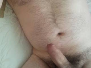 Nearly time for work, just got out of bed but with a hard cock its a shame to waste it.