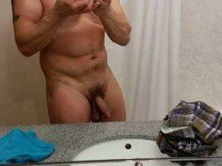 Very nice long thick cock and big balls.