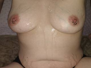 cum on my tits