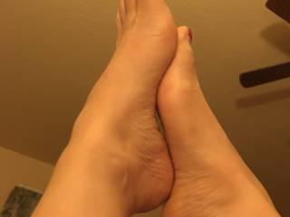 She wants me to fuck her feet and cum on them....do you think I should?