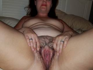 amateur, wife, tits, milf, chubby, pussy, spreading, repost me