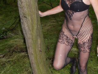 here a sexy girl photographed me... while my bf waiting for me in another woods.