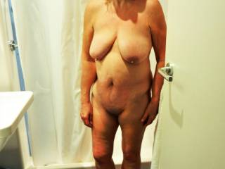 just out of the hotel shower feeling hot and horny