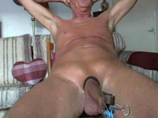 More naked fun with my foreskin !