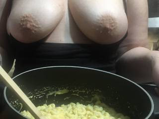 I was so horny while cooking dinner...