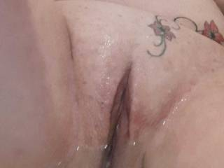 Just after Sally shaved her pussy, she sent me proof that it was smooth and ready for display!