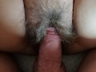 Fuck her pussy hairy wife