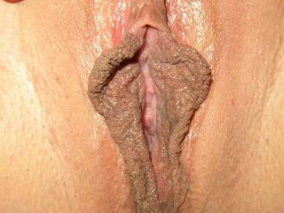 Wow! What beautiful pussy lips! I want to lick and suck them until we both cum!