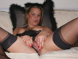 Our naughty fairy loves playing with her pussy!