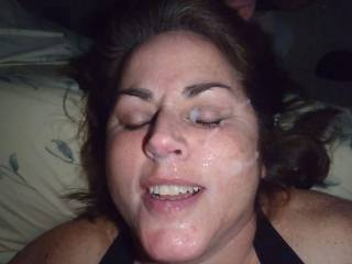 I love a woman who loves her face covered in cum