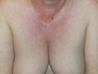 I'll play with them and suck them as she rides my cock, or would she prefer me to fuck them and cum all over them?
