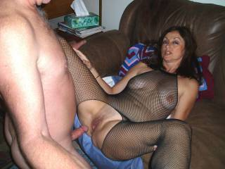 Candi Annie stops the action show she can show off her wet, swollen pussy- Is it time to join in?