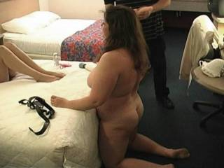 My wife stripped and ready to have some fun with another couple