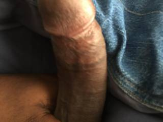 Loved how my dick looked while stroking it lol