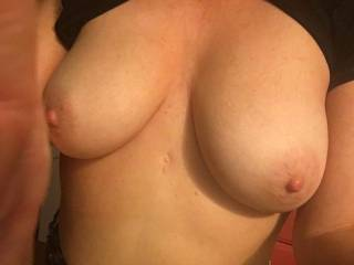 Selfie of some nice titties!! She LOVES SHOWING OFF!!