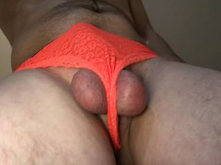Balls hanging, New VS thong