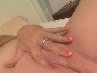 My freshly waxed pretty pink pussy - cum lick me