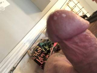 Just cranked one out! I love the feeling of cum spraying out of my cock