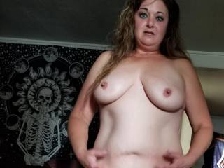 Naked and waiting for my husbands poker buddies