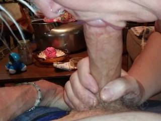One of the many things I love doing is enjoying sucking Rambone\'s firm, long cock..I get electric when we are in the zone like this..Enjoy!