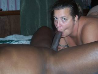 She loves to suck cock. looks like he is a bit more then a mouthful. any guys out there want a BJ?