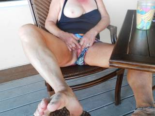 I get so horny at the beach I had to play with my pussy